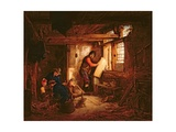 Interior of an Inn with Three Men and a Boy, 1656 Giclee Print by Adriaen Jansz. Van Ostade