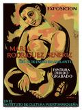 Exposicion (Exhibition) of Puerto Rican Artist Maria Rodriguez Señeriz Print by Antonio Martorell