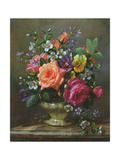 Roses and Pansies Giclee Print by Albert Williams