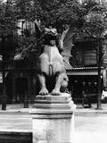 Chimaera from the St. Michel Fountain, Paris, C.1860 Photographic Print by Adolphe Giraudon