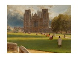 Wells Cathedral, 1889 Giclee Print by Albert Goodwin