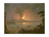 A View of Mount Vesuvius Erupting Giclee Print by Abraham Pether
