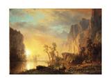 Sunset in the Rockies Giclee Print by Albert Bierstadt