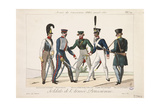 Soldiers of the Prussian Army, Army of the Allied Sovereigns, 1815 Giclee Print by Adrien Pierre Francois Godefroy