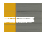 Grey and Yellow Alu-Dibond von  NaxArt