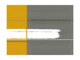 Grey and Yellow Stampa su metallo di  NaxArt