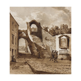 Shrine in the Walls of a Neapolitan Village Giclee Print by Achille Vianelli