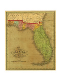 Map of Florida, 1826 Giclee Print by A. Finley