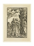 The Visitation of the Virgin to Elizabeth Giclee Print by Albrecht Altdorfer