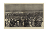 The Cup Day at Ascot, Arrival of the Prince and Princess of Wales on the Course Giclee Print by Adrien Emmanuel Marie