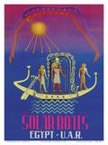 The Solar Boats - Egypt & U.A.R. (United Arab Republic) - Egyptian Sun God Poster