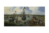 The Departure of a Dignitary from Middelburg, 1615 Giclée-Druck von Adriaen Pietersz van de Venne