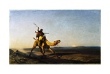 The Desert Courier Giclee Print by Alberto Pasini