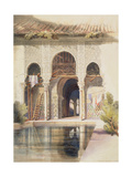 The Court of Myrtles, Alhambra, Mid-19th Century Giclée-Druck von A. Margaretta Burr