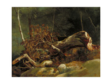 The Fallen Branch, Fontainebleau, C.1816 Giclee Print by Achille Etna Michallon
