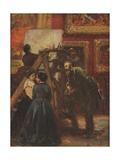 In the Louvre, 1867 Giclee Print by Adolph Friedrich Erdmann von Menzel