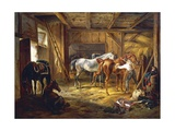 Stud, by Adam Albrecht (1786-1862), Germany, 19th Century Giclee Print by Albrecht Adam