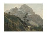 Western Trail, the Rockies Giclee Print by Albert Bierstadt
