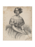 Jenny Lind, from Sheet Music for 'Swedish Melodies, Pieces and Operatic Songs', 1851 Giclee Print by Albert Newsam