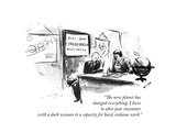"""""""The new planet has changed everything. I have to alter your encounter wit..."""" - New Yorker Cartoon Premium Giclee Print by Alan Dunn"""