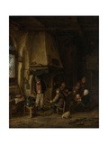 The Skaters: Peasants in an Interior, 1650 Giclee Print by Adriaen Jansz. Van Ostade