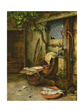 The Water Pump, C.1665-75 Giclee Print by Adriaen Jansz. Van Ostade