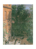 View of a Small Yard Giclee Print by Adolph Friedrich Erdmann von Menzel