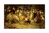Woodland Fete Giclee Print by Adolphe Joseph Thomas Monticelli
