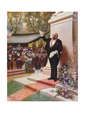 Inauguration of a Monument, 1905 Giclee Print by Albert Guillaume
