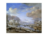 The Winter Landscape, C.1648 Giclee Print by Aert van der Neer