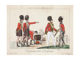 Scottish Regiments, Army of the Allied Sovereigns, 1815 Giclee Print by Adrien Pierre Francois Godefroy
