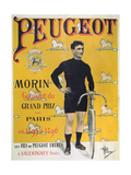 Poster Advertising the Cycles 'Peugeot', 1896 Giclee Print by Albert Guillaume