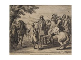Cavalry Engagement, Engraved by Jan Van Huchtenburg (1647-1733), 1667-90 Giclee Print by Adam Frans van der Meulen