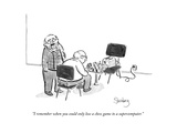 """I remember when you could only lose a chess game to a supercomputer."" - New Yorker Cartoon Premium Giclee Print by Avi Steinberg"