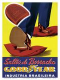 Saltos de Borracha (Rubber Heels) - Goodyear - Industria Brasileira (Brazilian Industry) Posters