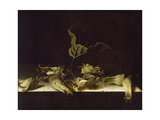 Still Life with Hazel-Nuts, 1696 Giclee Print by Adrian Coorte