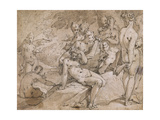 No.3146 Diana and Callisto from Ovid's `Metamorphosis`, Ii, P.442-53, C.1595 Giclee Print by Abraham Bloemaert