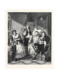 Le Malade Imaginaire, in the Royal Academy Exhibition 1861 Giclee Print by Abraham Solomon