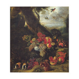 Fruit and Animals Giclee Print by Abraham Brueghel