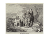 Irish Mendicants Giclee Print by Alfred Downing Fripp