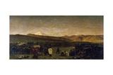 Caravan Park in Persia, 1859 Impression giclée par Alberto Pasini