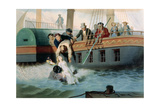 Tom Saves Evangeline Giclee Print by Adolphe Jean-baptiste Bayot