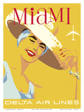 Miami, Florida - Delta Air Lines Posters