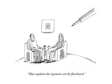 """That explains the signature on the floorboard."" - New Yorker Cartoon Premium Giclee Print by Mick Stevens"