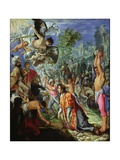Stoning of St. Stephen, C.1602-05 Giclee Print by Adam Elsheimer