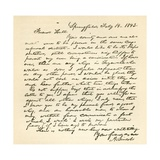 Letter from Abraham Lincoln to Alden Hall, Dated February 14, 1843 Giclee Print by Abraham Lincoln