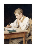 Writing Boy, 1902 Giclee Print by Albert Anker