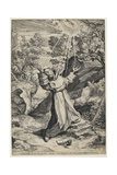 Saint Francis Recieving the Stigmata, 1586 Giclee Print by Agostino Carracci