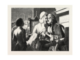 Exhibition of the British Institution: Scandal, 1851 Giclee Print by Abraham Solomon
