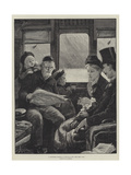 A Christmas Journey as We Do it Now Giclee Print by Alfred Edward Emslie